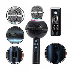 Беспроводной микрофон караоке bluetooth WSTER WS-878 Black