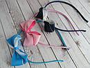 Ободки для волос с бантиками цветные 12 шт/уп , фото 3