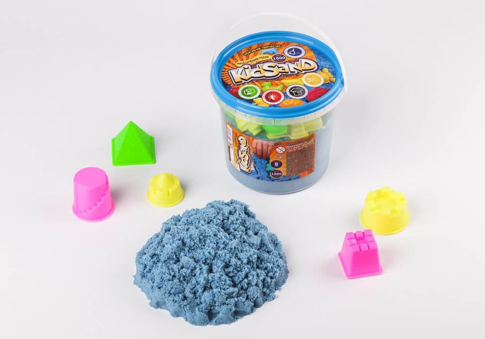 Кинетический песок синий Kidsand 1 кг Danko Toys (KS-01-01)