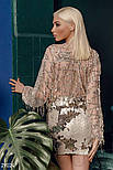 Стильная блуза-боди с бахромой из пайеток, фото 4