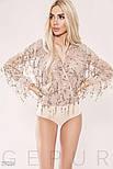 Стильная блуза-боди с бахромой из пайеток, фото 5