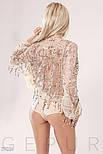 Стильная блуза-боди с бахромой из пайеток, фото 6