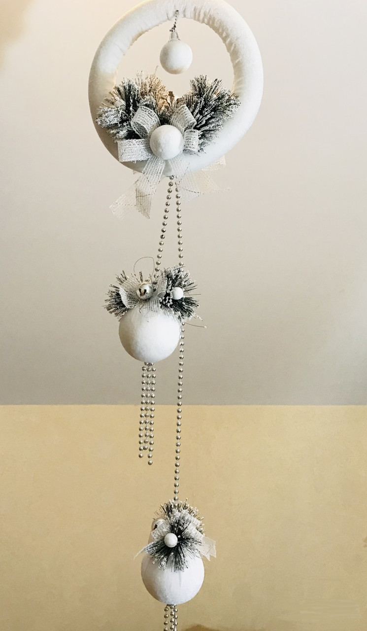 Новогодняя подвеска с шарами 110 см