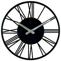 Настінні Годинники металеві Rome Black