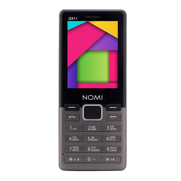 Смартфон Nomi i241 Plus Metal Dark Grey (2220365)