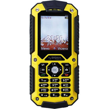 Sigma mobile X-treme PQ67 3G Black/Yellow, фото 2