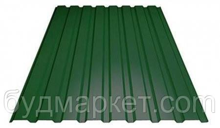 Профнастил кровельный ПК-20 RAL 6005(темно-зеленый) 0.40 мм (1145/1100*200