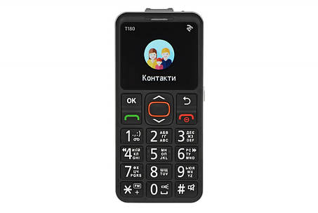 Телефон 2E T180 Single Sim Black, фото 2