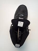 Кроссовки высокие мужские Nike АФ 1 черные с белым знаком топ реплика, фото 2