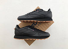 Мужские кроссовки Reebok Classic Leather Black Gum 49800, оригинал, фото 3 23c4e2d392b