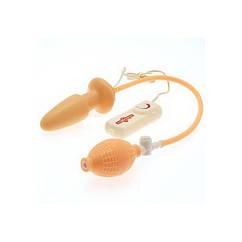 Анальная пробка-расширитель Seven Creations с вибрацией Butt Plug Vibrator With Pump, КОД: 281205