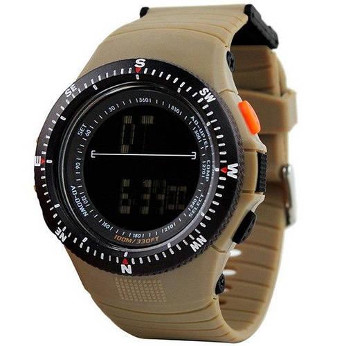 • Оригинал! Skmei(Скмей) 0989 Khaki  | Cпортивные мужские часы !