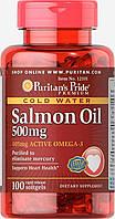 Puritan's Pride Salmon Oil 500 mg 100 caps, фото 1