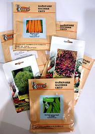 Семена овощей в профупаковке (пакет, банка)