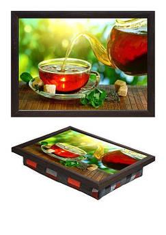 Поднос мини BST 040243 34*25 коричневый чай и мята