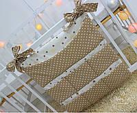Органайзер,карман на ліжечко в коричневих тонах 1578