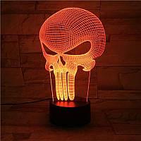 3D светильник 3D Lamp Каратель (LP-1126), фото 1
