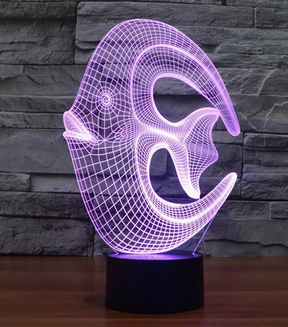 3D светильник 3D Lamp Рыбка (LP-391)