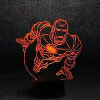 3D светильник 3D Lamp Железный человек 2 (LP-1109), фото 1