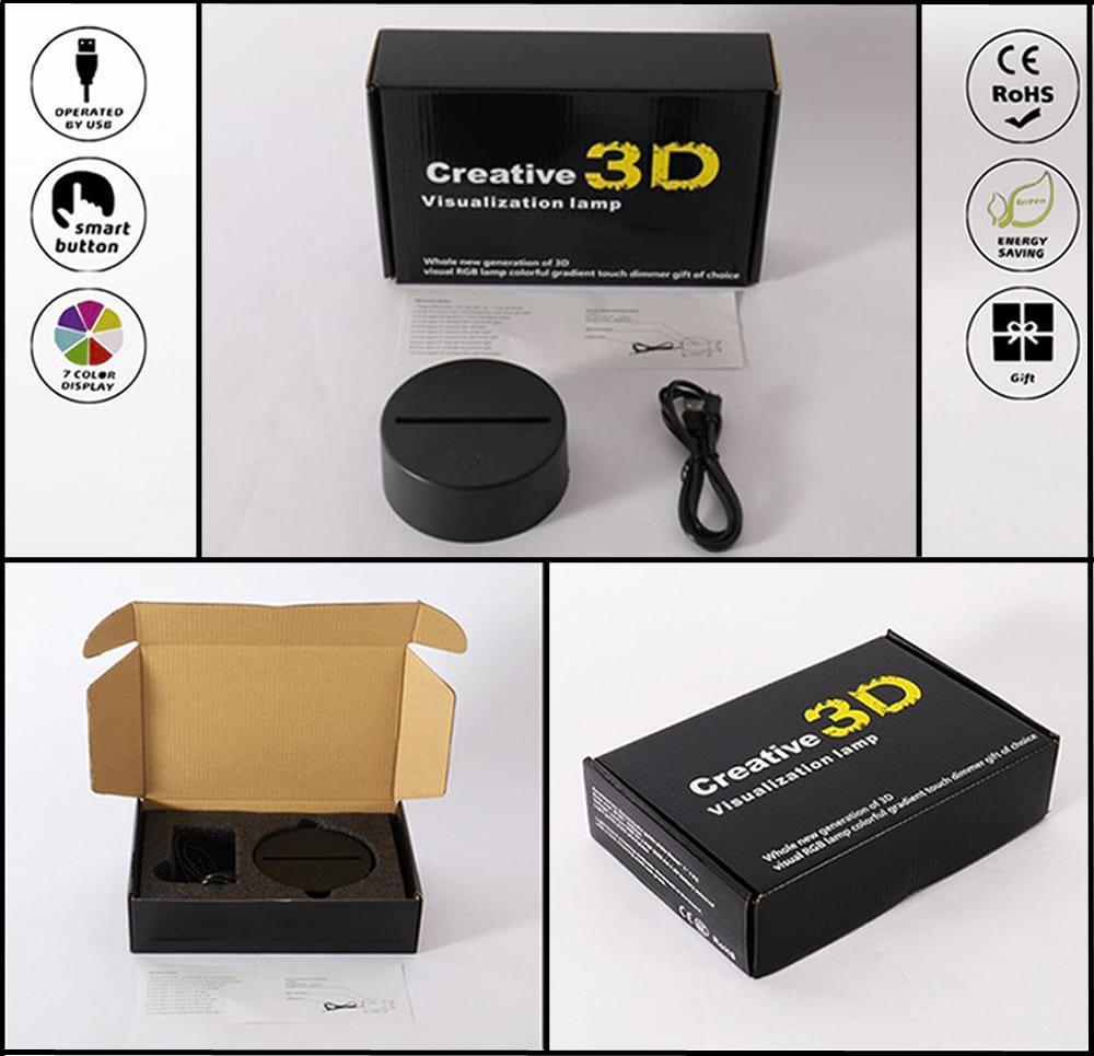 3D светильник 3D Lamp Железный человек 2 (LP-980)