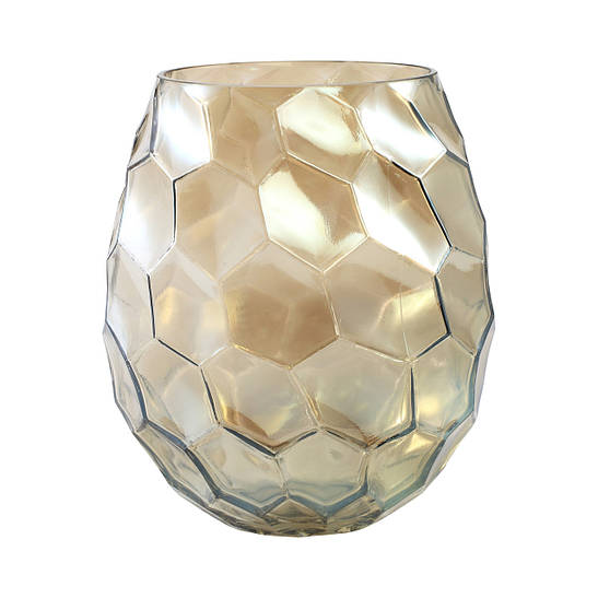 Ваза AMAZING vase m gold_smokey 672354-PT  PTMD Collection