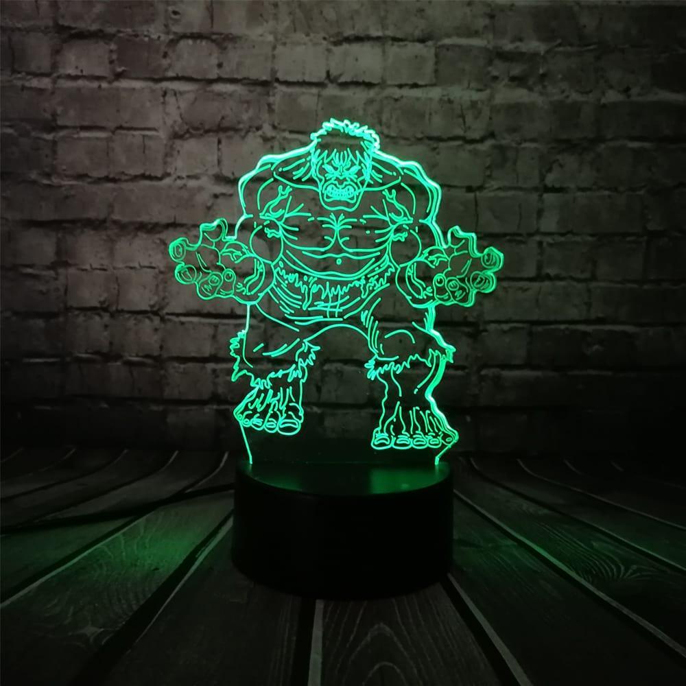 3D светильник 3D Lamp Халк (LP-1158)