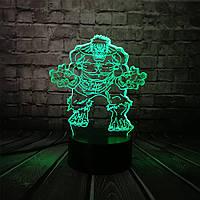 3D светильник 3D Lamp Халк (LP-1158), фото 1