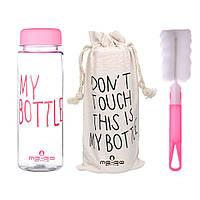 Бутылка для воды ME-GO My Bottle розовая (WB-686), фото 1