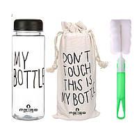 Бутылка для воды ME-GO My Bottle черная (WB-685), фото 1