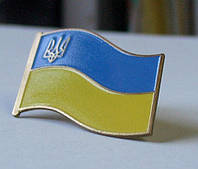 Значок флаг Украины большой