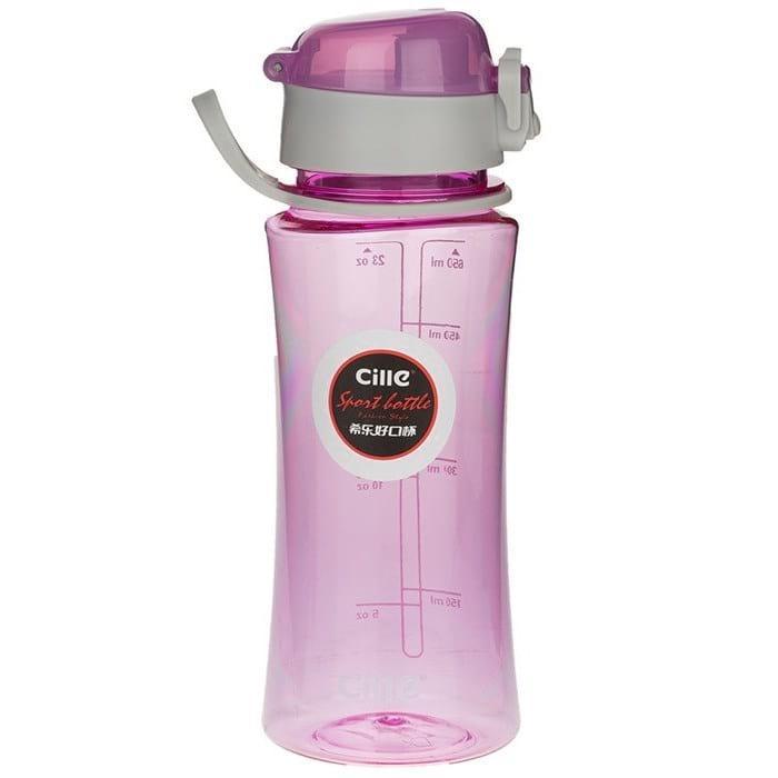 Бутылка для воды Cille 650 розовая (WB-553)