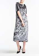 Платье aLOT с бантами 42 Серое, КОД: 268707