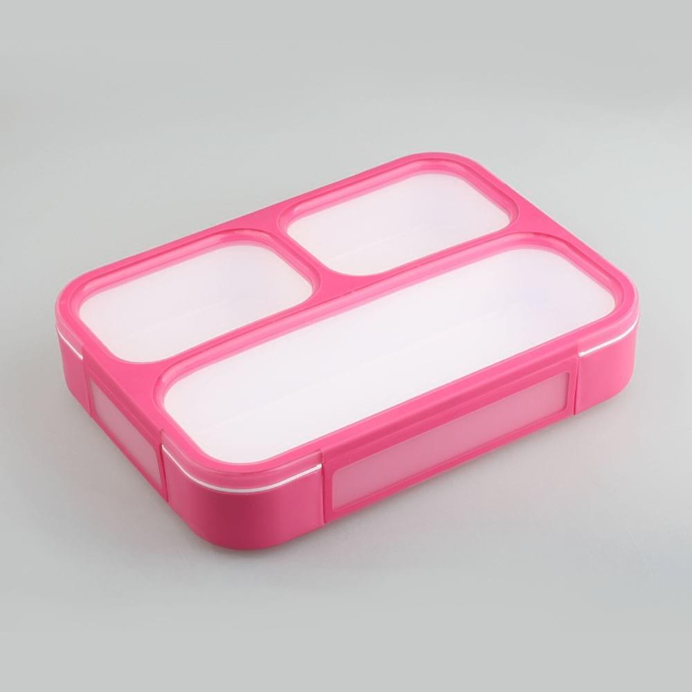 Ланч-бокс YooYee Book size 3 в 1 розовый (LB-493)