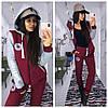 """Женский костюм """"Конверс"""" с капюшоном и накаткой в расцветках. МС-1-1118, фото 3"""