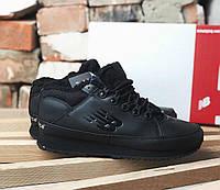 New Balance 754 Black Fur (с мехом) | кроссовки мужские; зимние; черные; кожаные
