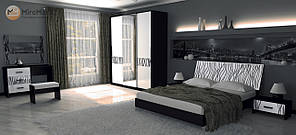 """Спальня """"Терра"""" від Миро-Марк(глянець білий ,чорний мат)."""