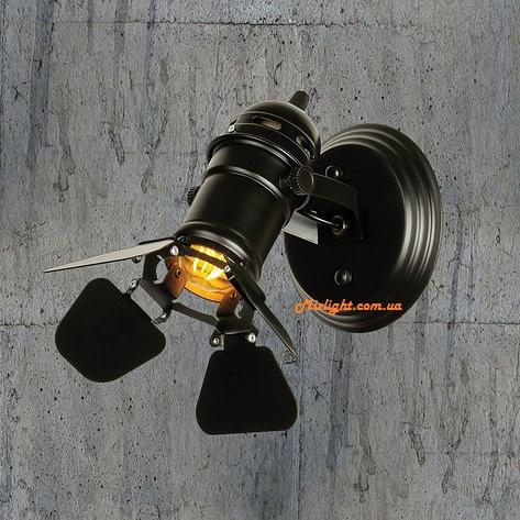 Бра-прожектор: настенное бра в лофт стиле в виде прожектора LV 761BSD01-1 BK