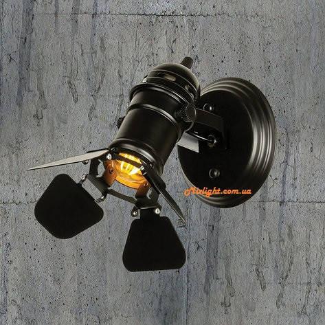 Бра-прожектор: настенное бра в лофт стиле в виде прожектора LV 761BSD01-1 BK, фото 2
