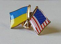 Значок флаг Украины и США