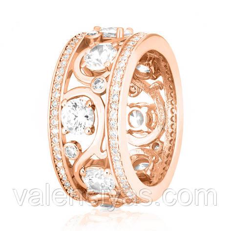 """Серебряное кольцо с позолотой в стиле """"Tiffany"""" КК3Ф/193, фото 2"""