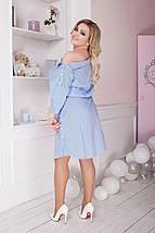 """Летнее хлопковое платье-рубашка в полоску """"STERN"""" с четвертным рукавом (большие размеры), фото 3"""