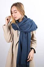 Теплый женский шарф Терри цвет джинсовый