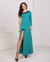 Платье в пол вечернее бирюза, фото 1