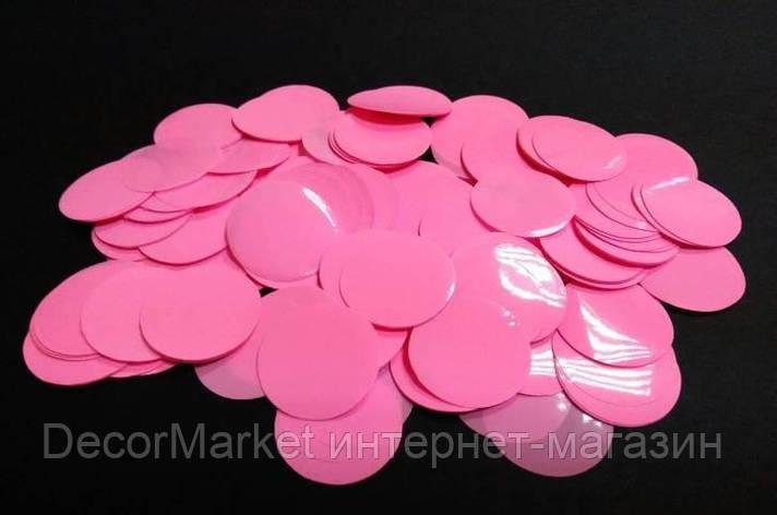 Конфетти кружки - РОЗОВЫЕ. Упаковка 100 грамм, фото 2