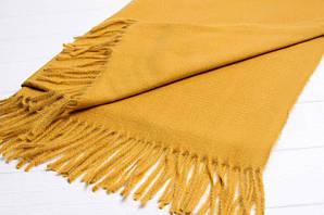 Модный женский шафр цвет желтый с бахромой