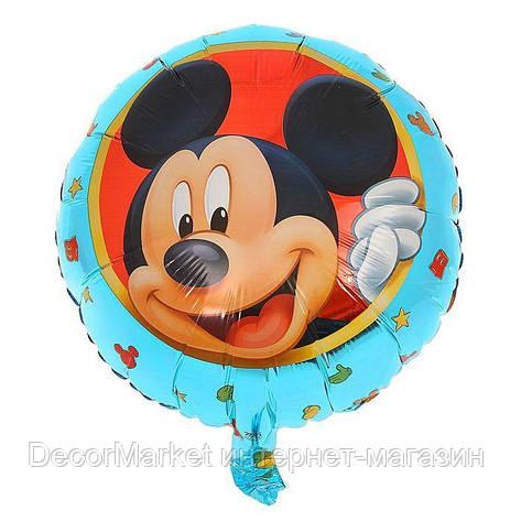 Шар круг фольгированный, МИККИ 01 - 45 см, фото 2