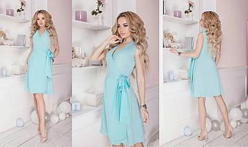 "Летнее мини-платье на запах ""TORINO"" без рукавом, фото 3"