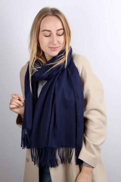 Однотонний жіночий шарф-палантин