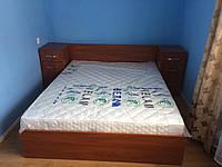 Двохспальне ліжко з підйомним механізмом та тумбами
