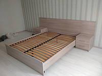 Ліжко двоспальне з тумбами